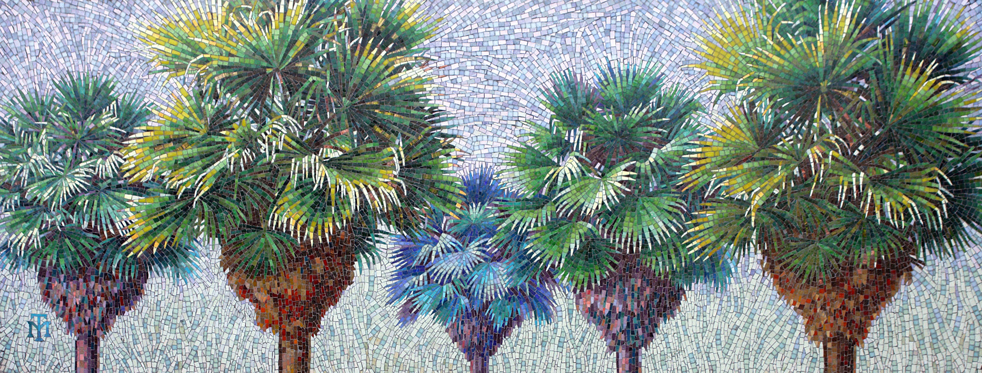 Newport Elementary Mural - Palm Trees