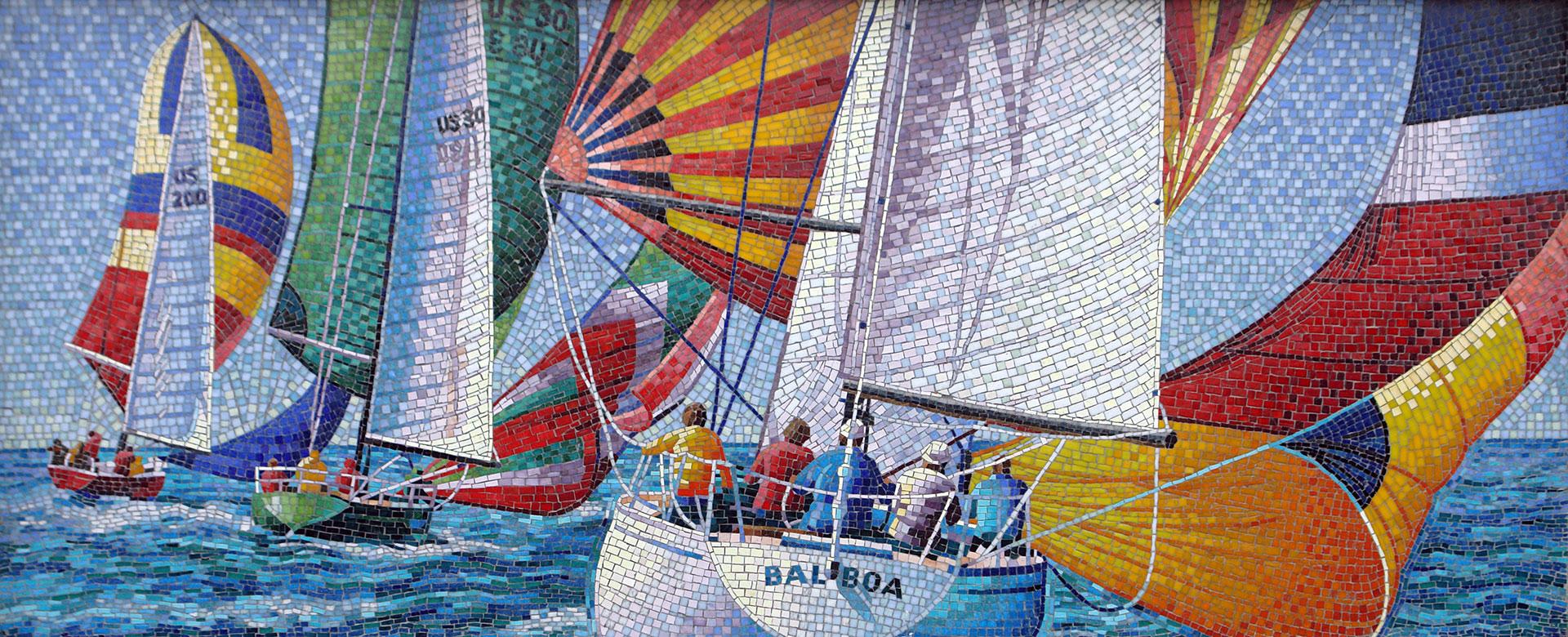 Newport Elementary Mural - Sailboats