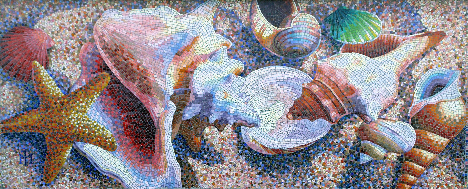 Newport Elementary Mural - Sea Shells